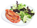Grilled chicken and green salad Royalty Free Stock Photography