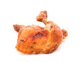 Grilled  chicken  leg   isolated on white background Royalty Free Stock Photo