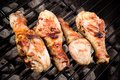 Grilled chicken legs on the grill Royalty Free Stock Photo