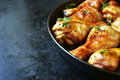Grilled chicken legs with thyme. Royalty Free Stock Photo