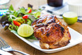 Grilled chicken with salad Royalty Free Stock Image