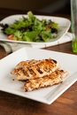 Grilled chicken and salad freshly prepared breasts ingredients Stock Photos