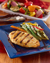 Grilled chicken summer meal. Royalty Free Stock Photo