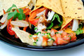 Grilled Chicken And Veggie Wraps Royalty Free Stock Photo