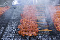 Grilled chicken wing close view of Royalty Free Stock Image