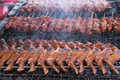 Grilled chicken wing close view of Stock Photography