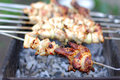Grilled chiken wing Stock Photo