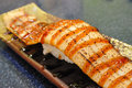 Grilled eel sushi japanese food Royalty Free Stock Photography