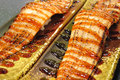 Grilled eel sushi japanese food Stock Photos
