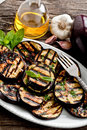 Grilled eggplants Stock Photography