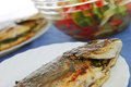 Grilled fish. Royalty Free Stock Image