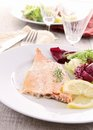 Grilled fish with almonds Stock Photography