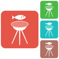 Grilled fish icon
