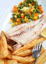 Grilled fish, vertical Stock Photography