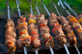 Grilled kabobs Royalty Free Stock Image