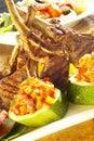 Grilled Lamb On Bone Stock Photos