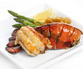 Grilled Lobster Tail Royalty Free Stock Photo