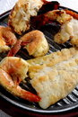 Grilled Lobster Tails and Fish Royalty Free Stock Photo