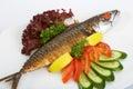 Grilled mackerel fish Royalty Free Stock Photo