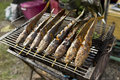 Grilled marinate catfish Royalty Free Stock Photo
