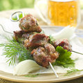Grilled meat kebab Royalty Free Stock Photo