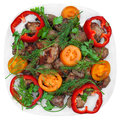 Grilled meat (kebab) and vegetables Stock Image
