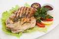 Grilled meat photo of on a plate Royalty Free Stock Images