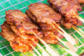 Grilled meat thai style this Royalty Free Stock Photography