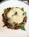 Grilled Mushroom Topping With Cheese Royalty Free Stock Photo