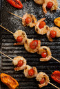 Grilled Parmesan Shrimp Royalty Free Stock Photo