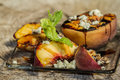 Grilled peaches Royalty Free Stock Photo