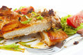 Grilled pork chop with spices Royalty Free Stock Photo