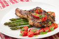 Grilled Pork Chops Royalty Free Stock Photo