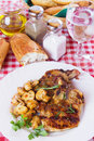 Grilled pork loin chops Stock Photos