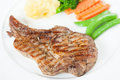 Grilled Pork Steak Royalty Free Stock Photo