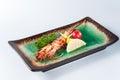 Grilled prawn,kaiseki Royalty Free Stock Photo