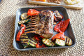 Grilled rack of lamb chops Royalty Free Stock Photo