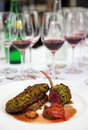 Grilled rack of lamb, english style dish Stock Photography
