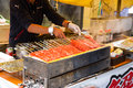 Grilled Red stick crab meat, Japanese street food Royalty Free Stock Photo