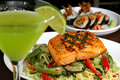 Grilled Salmon 2 Stock Photo