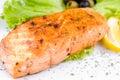 Grilled Salmon, Macro