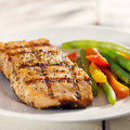 Grilled salmon with vegetables Stock Photos