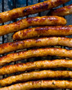 Grilled sausages Stock Images