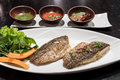 Grilled sea bass Royalty Free Stock Photo