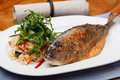 Grilled Sea Bream Royalty Free Stock Images