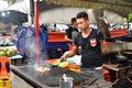 Grilled seafood fish for dinner at Kota Kinabalu Royalty Free Stock Photo