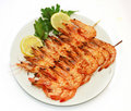 Grilled shrimps Royalty Free Stock Photo