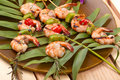 Grilled shrimps, tropical Stock Images