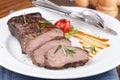 Grilled sirloin steak Royalty Free Stock Photo