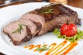 Grilled sirloin steak Royalty Free Stock Photo